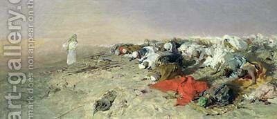 The Sermon of Mohammed by Domenico Morelli - Reproduction Oil Painting
