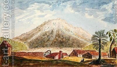 View of the northern side of Mount Pelee from Macouba in Martinique 1815 by de Jones Moreau - Reproduction Oil Painting