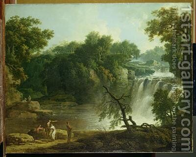 The Falls of Clyde 1771 by Jacob More - Reproduction Oil Painting