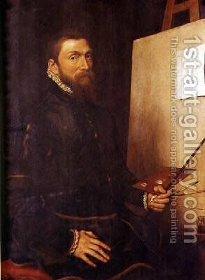 Self Portrait by Anthonis Mor Van Dashorst - Reproduction Oil Painting