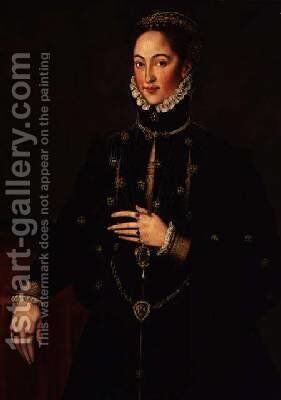 Portrait of the Marquesa of las Navas by Anthonis Mor Van Dashorst - Reproduction Oil Painting