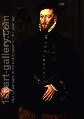 Portrait of the Marquis of Las Navas by Anthonis Mor Van Dashorst - Reproduction Oil Painting