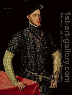 King Philip II of Spain 1549-55 by Anthonis Mor Van Dashorst - Reproduction Oil Painting