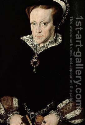 Queen Mary I 1516-58 of England by (after) Mor, Sir Anthonis (Antonio Moro) - Reproduction Oil Painting