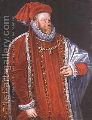 Portrait of Vratislav of Pernstein 1530-82 by Anthonis Mor Van Dashorst - Reproduction Oil Painting