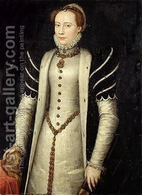 Portrait of a Noblewoman with a Puppy 1555 by Anthonis Mor Van Dashorst - Reproduction Oil Painting