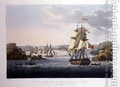 The Harbour of Port Cornwallis by (after) Moore, Joseph - Reproduction Oil Painting