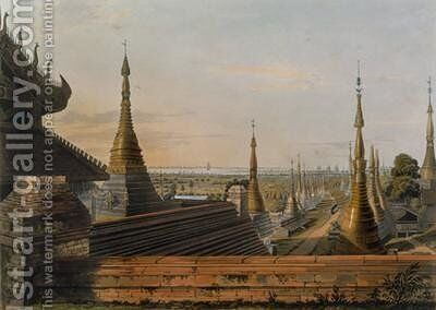 Scene upon the Eastern Road from Rangoon Looking Towards the South by (after) Moore, Joseph - Reproduction Oil Painting