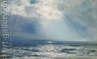 A Sunbeam over the Sea 1890 by Henry Moore - Reproduction Oil Painting