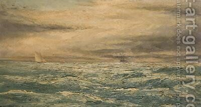 A Choppy Day in the Channel by Henry Moore - Reproduction Oil Painting