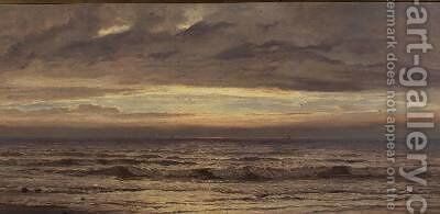 The Seashore Evening by Henry Moore - Reproduction Oil Painting