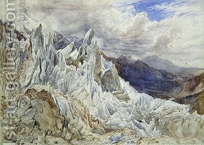 Mer de Glace 1856 by Henry Moore - Reproduction Oil Painting