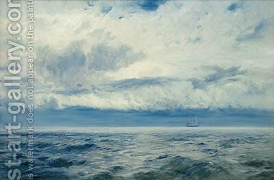 Storm Brewing 1890 by Henry Moore - Reproduction Oil Painting
