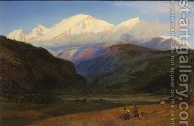 Mont Blanc from Servoz 1856 by Henry Moore - Reproduction Oil Painting