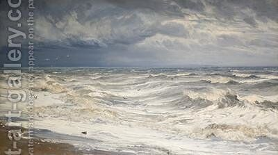 Winter Gale in the Channel 1872 by Henry Moore - Reproduction Oil Painting