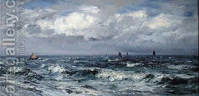 Squally Weather South Coast by Henry Moore - Reproduction Oil Painting