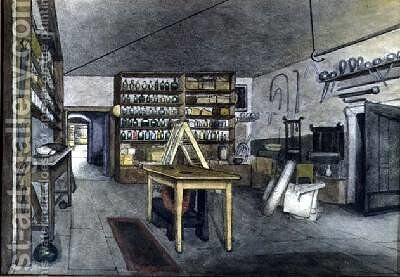 Faradays Magnetic Laboratory 1852 by Harriet Jane Moore - Reproduction Oil Painting