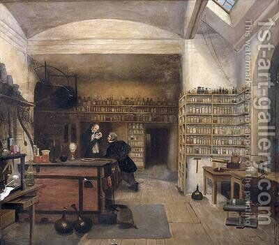 Michael Faraday 1791-1867 by Harriet Jane Moore - Reproduction Oil Painting