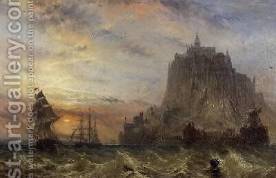 Mont St Michel Normandy by Claude T. Stanfield Moore - Reproduction Oil Painting