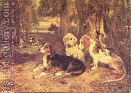 Jagdhunde by Alexandre Gabriel Decamps - Reproduction Oil Painting