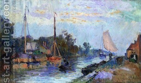 Rotterdam, View of Vleuve Schie by Albert Lebourg - Reproduction Oil Painting