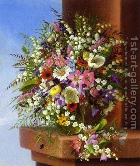Spring Bouquet by Adelheid Dietrich - Reproduction Oil Painting