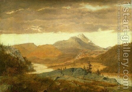 Mountain Vista by Alexander Helwig Wyant - Reproduction Oil Painting