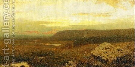 Pink Sunset by Alexander Helwig Wyant - Reproduction Oil Painting