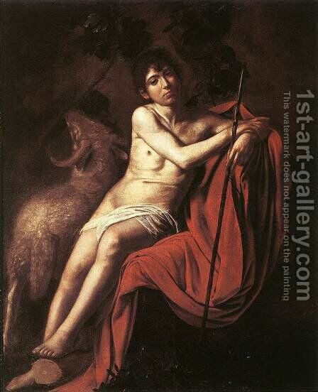 St John The Baptist 1610 by Caravaggio - Reproduction Oil Painting