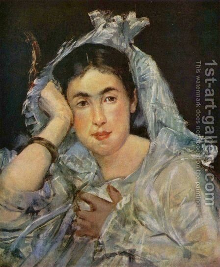 Marguerite de Conflans Wearing a Hood by Edouard Manet - Reproduction Oil Painting