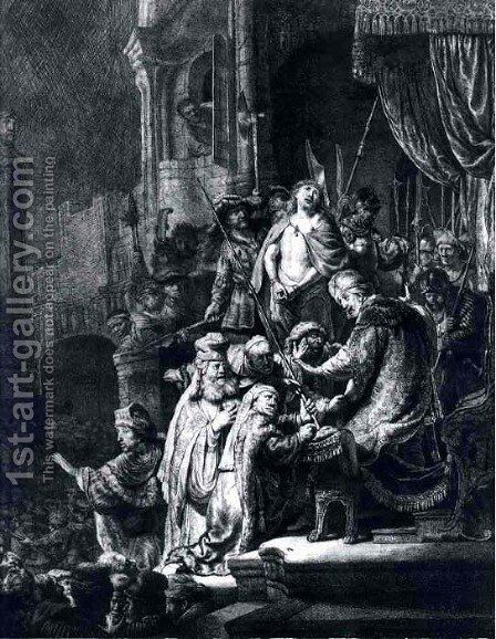 Christ Devant Pilate Et Le Peuple,bnf 1635 by Rembrandt - Reproduction Oil Painting