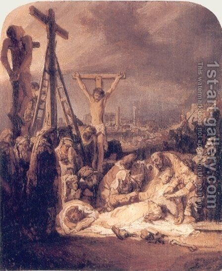 La Deploration Du Christ,londres 1635 by Rembrandt - Reproduction Oil Painting