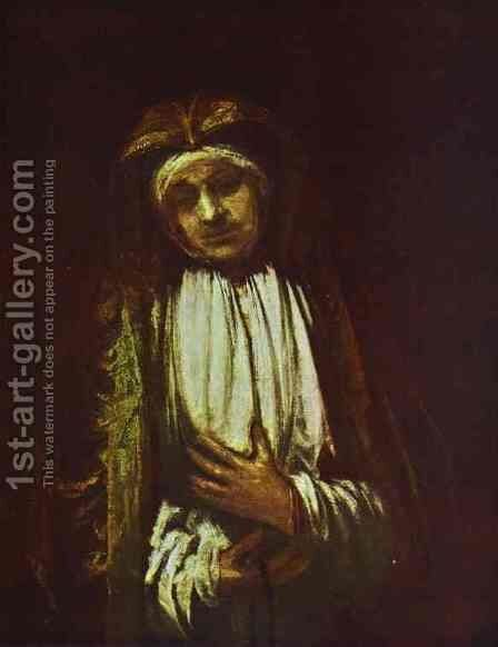 Portrait of an Old Woman 1 by Rembrandt - Reproduction Oil Painting