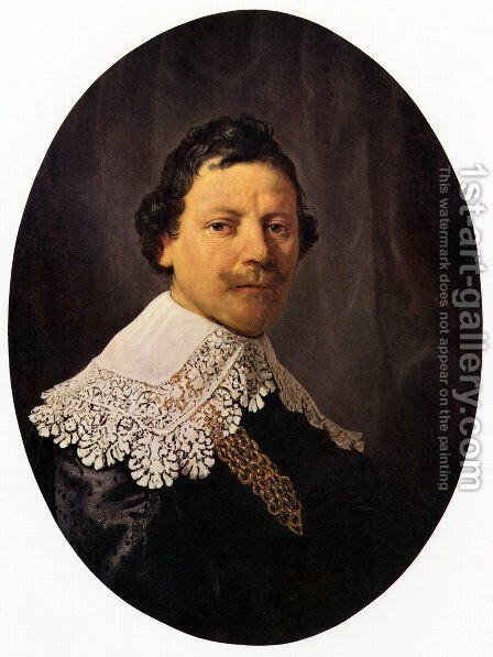 Portrait of Philips Lucasz 1635 by Rembrandt - Reproduction Oil Painting