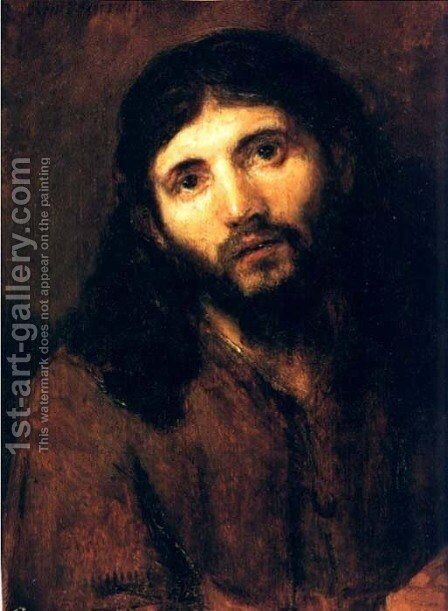 Tete De Christ,detroit 1655 by Rembrandt - Reproduction Oil Painting