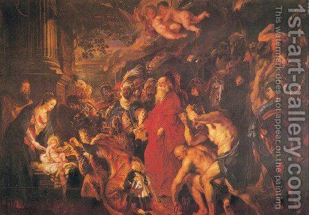Adoration of the Magi 3 by Rubens - Reproduction Oil Painting