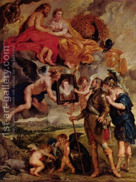 Henry IV Receives the Portrait by Rubens - Reproduction Oil Painting