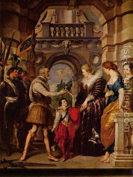 Institution of the Regency by Rubens - Reproduction Oil Painting