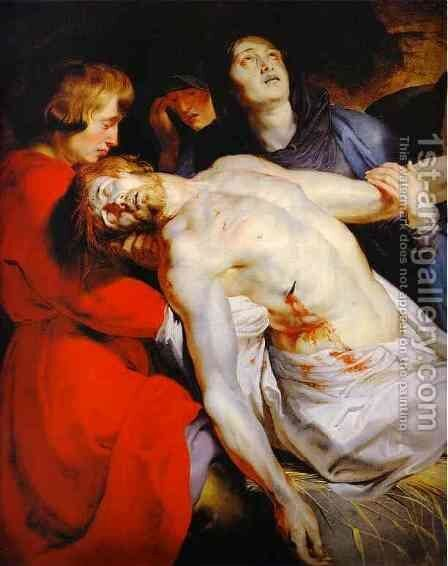 The Entombment (detail) by Rubens - Reproduction Oil Painting