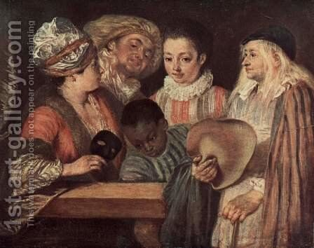 Maskerade by Jean-Antoine Watteau - Reproduction Oil Painting