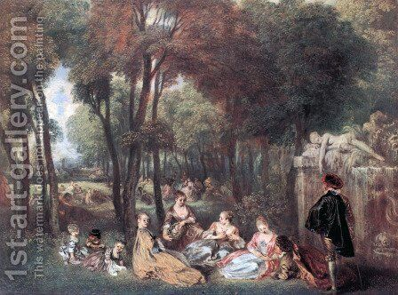 The Champs of Élyssées by Jean-Antoine Watteau - Reproduction Oil Painting