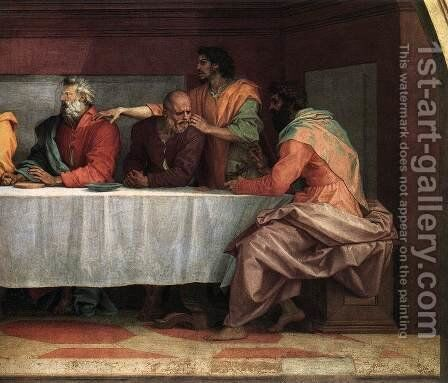 The Last Supper (detail) 3 by Andrea Del Sarto - Reproduction Oil Painting