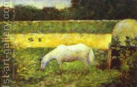 Landscape with a Horse. by Georges Seurat - Reproduction Oil Painting