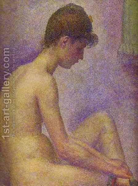 Models 2 by Georges Seurat - Reproduction Oil Painting