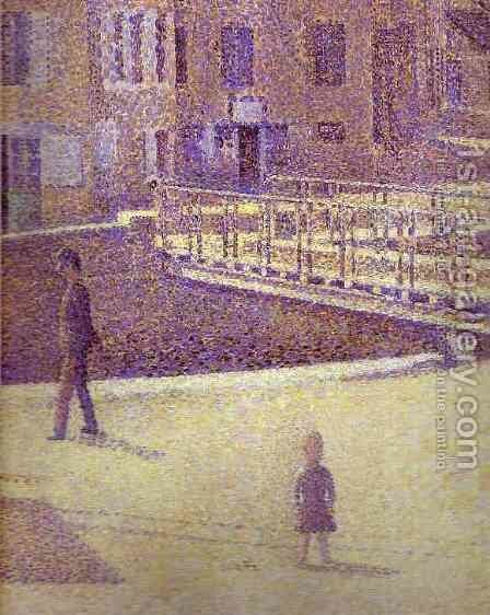 Port-en-Bessin1 (detail) by Georges Seurat - Reproduction Oil Painting