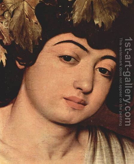 Bacchus (detail) by Caravaggio - Reproduction Oil Painting