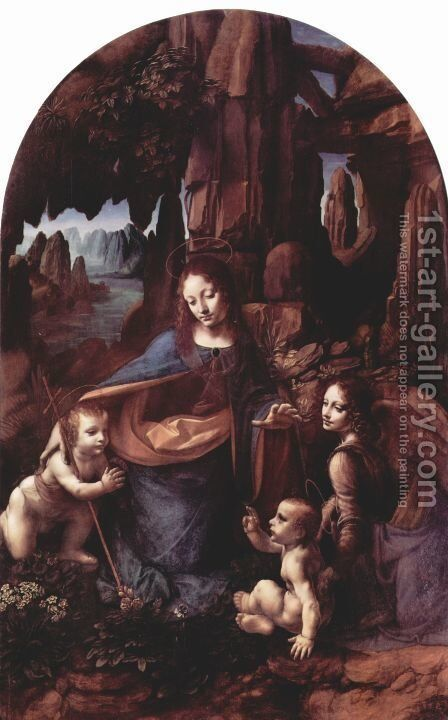 Madonna of the Rocks by Leonardo Da Vinci - Reproduction Oil Painting