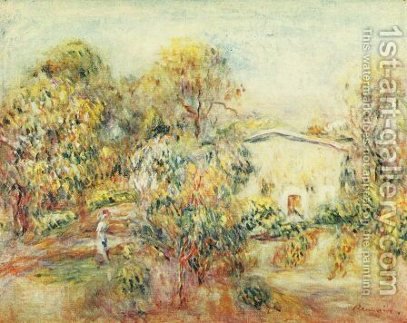 Landscape at Cagnes 2 by Pierre Auguste Renoir - Reproduction Oil Painting