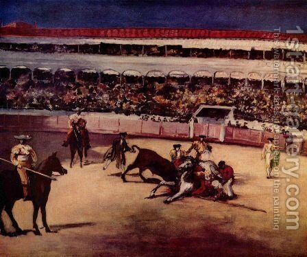 Bullfighting by Edouard Manet - Reproduction Oil Painting