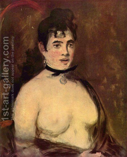 Female Nude by Edouard Manet - Reproduction Oil Painting